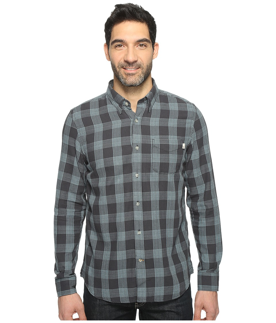Timberland - Sugar River Open Weave Plaid Shirt (Stone Blue Yarn-Dye) Men's Long Sleeve Button Up