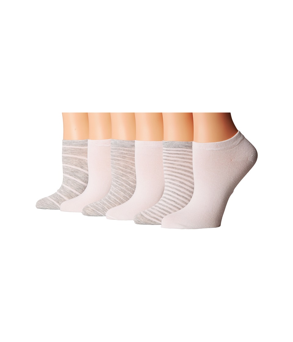 LAUREN Ralph Lauren - Stripe Low Cut 6-Pack (Sweatshirt Grey Heather) Women's Low Cut Socks Shoes