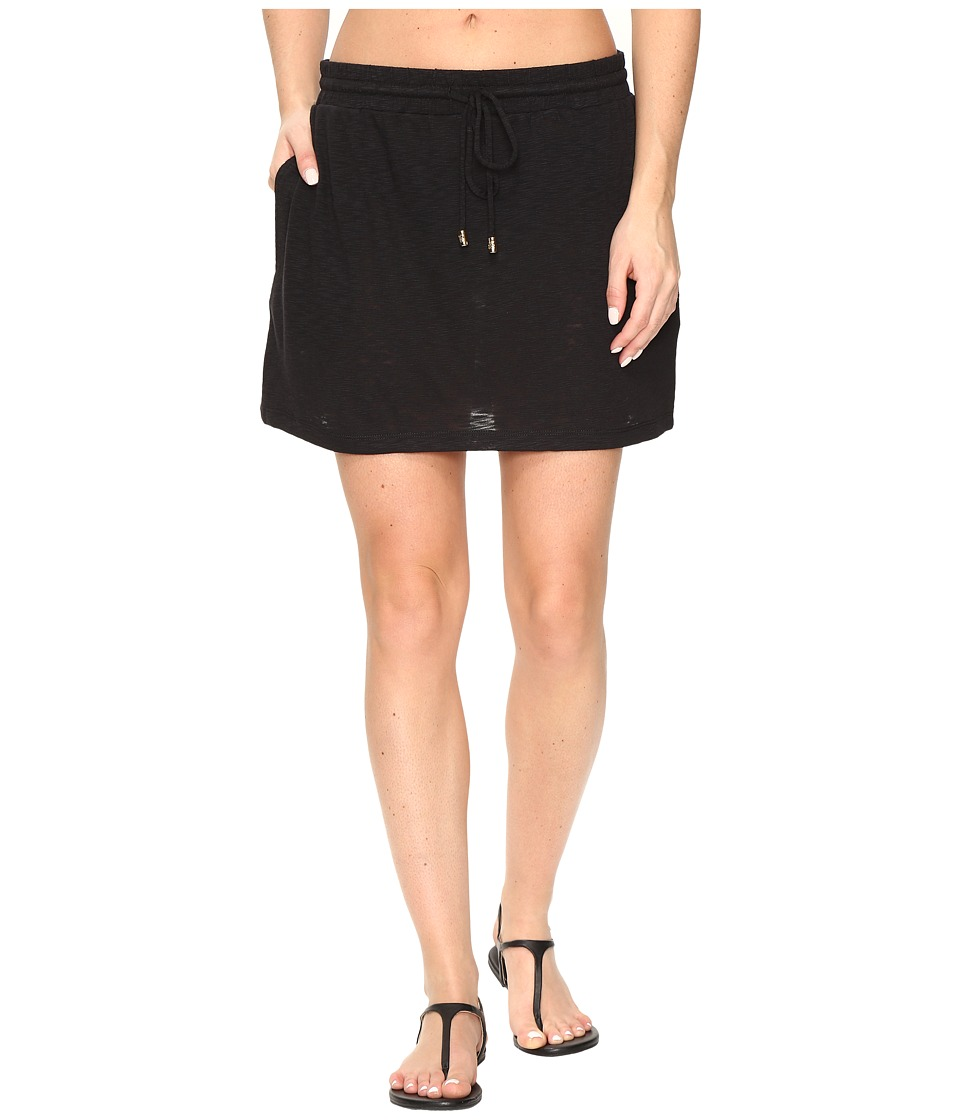 Tommy Bahama - Slub Knit Drawstring Skirt Cover-Up (Black) Women's Skirt