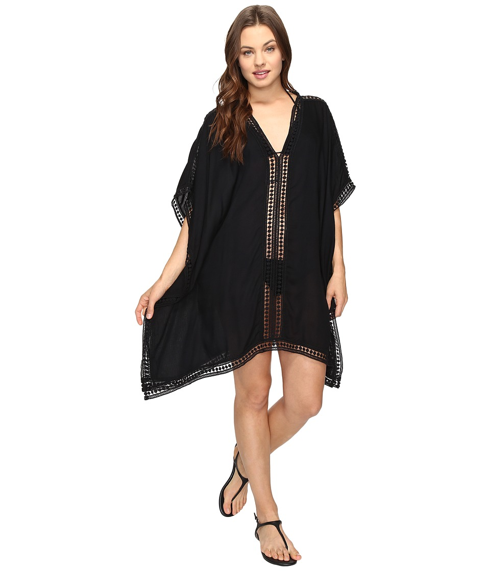 Tommy Bahama - Lace Tunic w/ Lace Inset Edge Cover-Up (Black) Women's Swimwear
