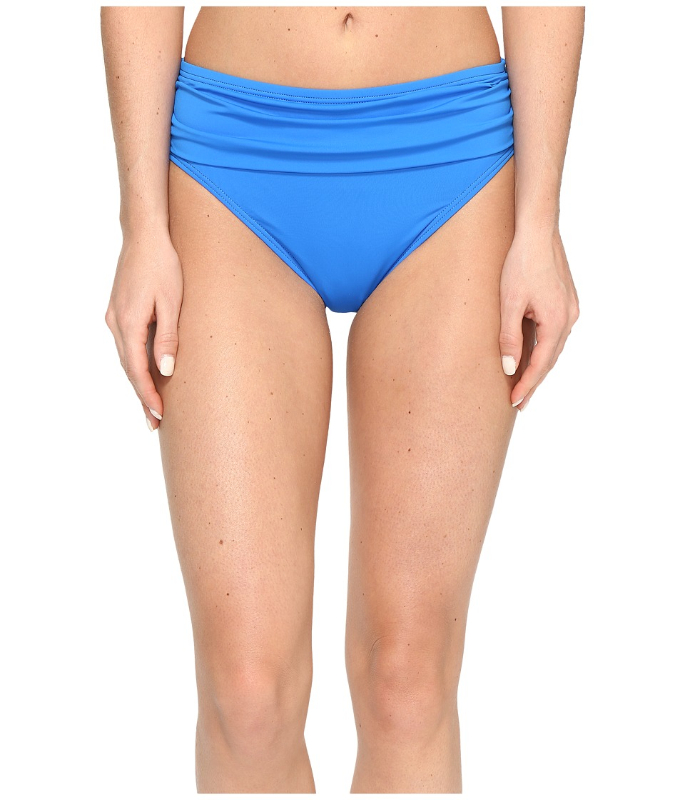 Tommy Bahama - Pearl High-Waist Hipster Bikini Bottom (Vivid Blue) Women's Swimwear