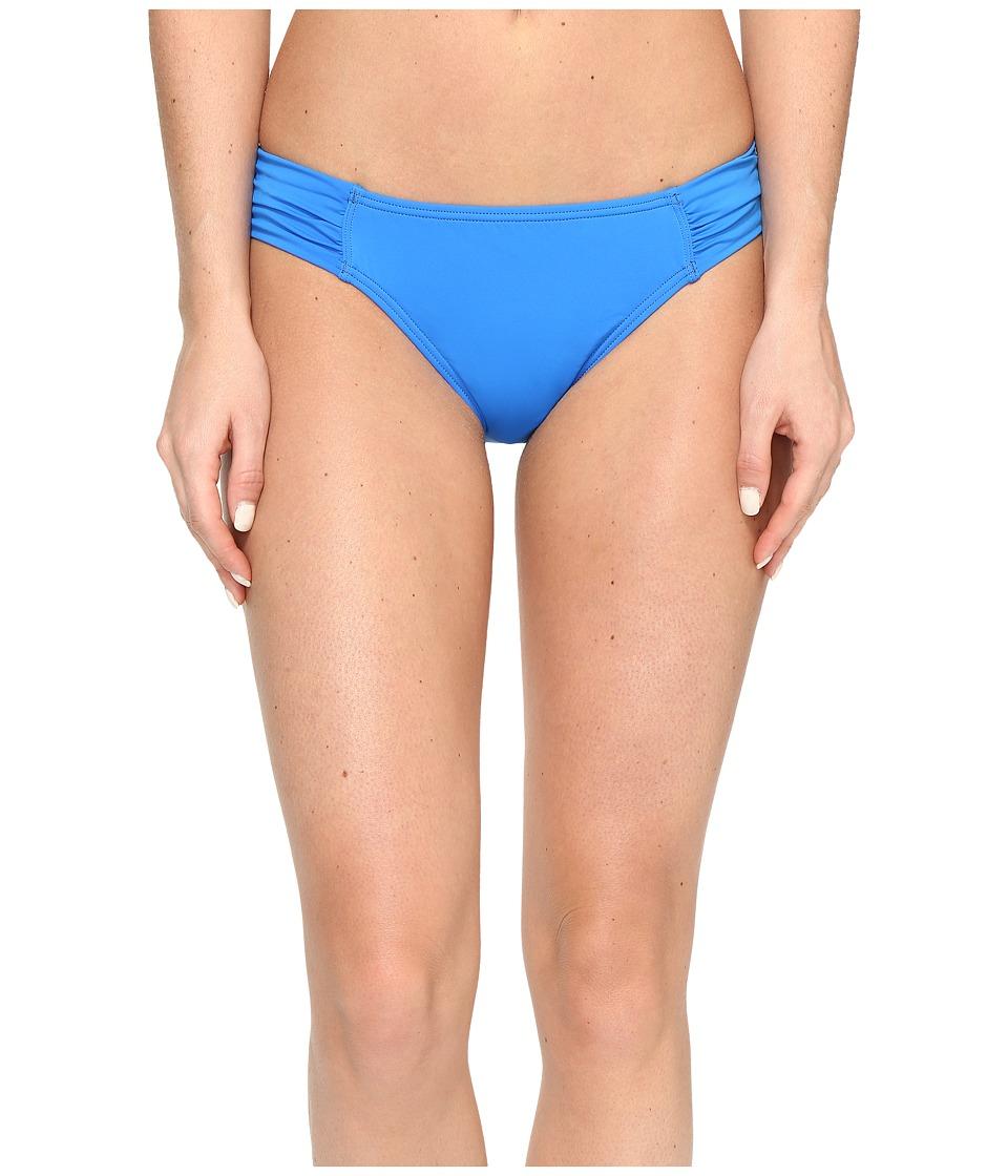 Tommy Bahama Pearl Side-Shirred Hipster Bikini Bottom (Vivid Blue) Women