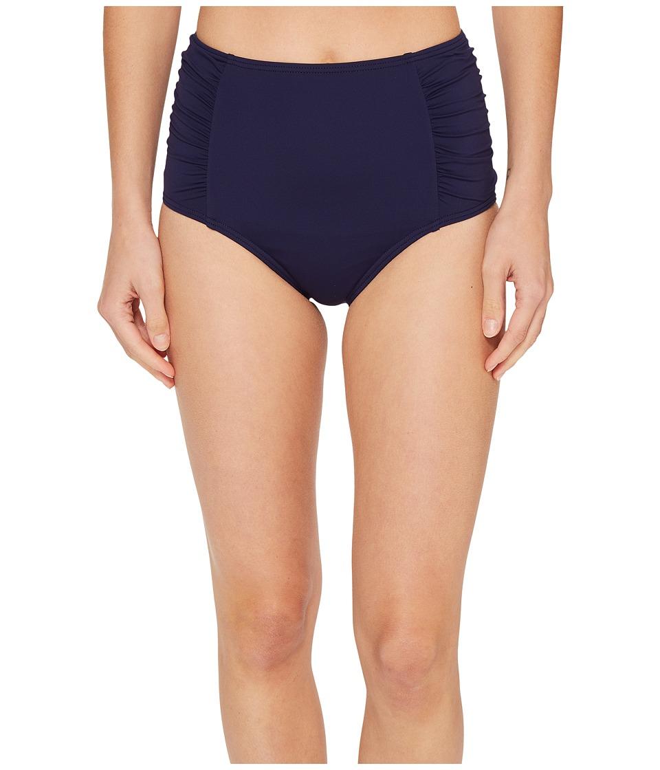 Tommy Bahama - Pearl High-Waist Shirred Bikini Bottom (Mare Navy) Women's Swimwear