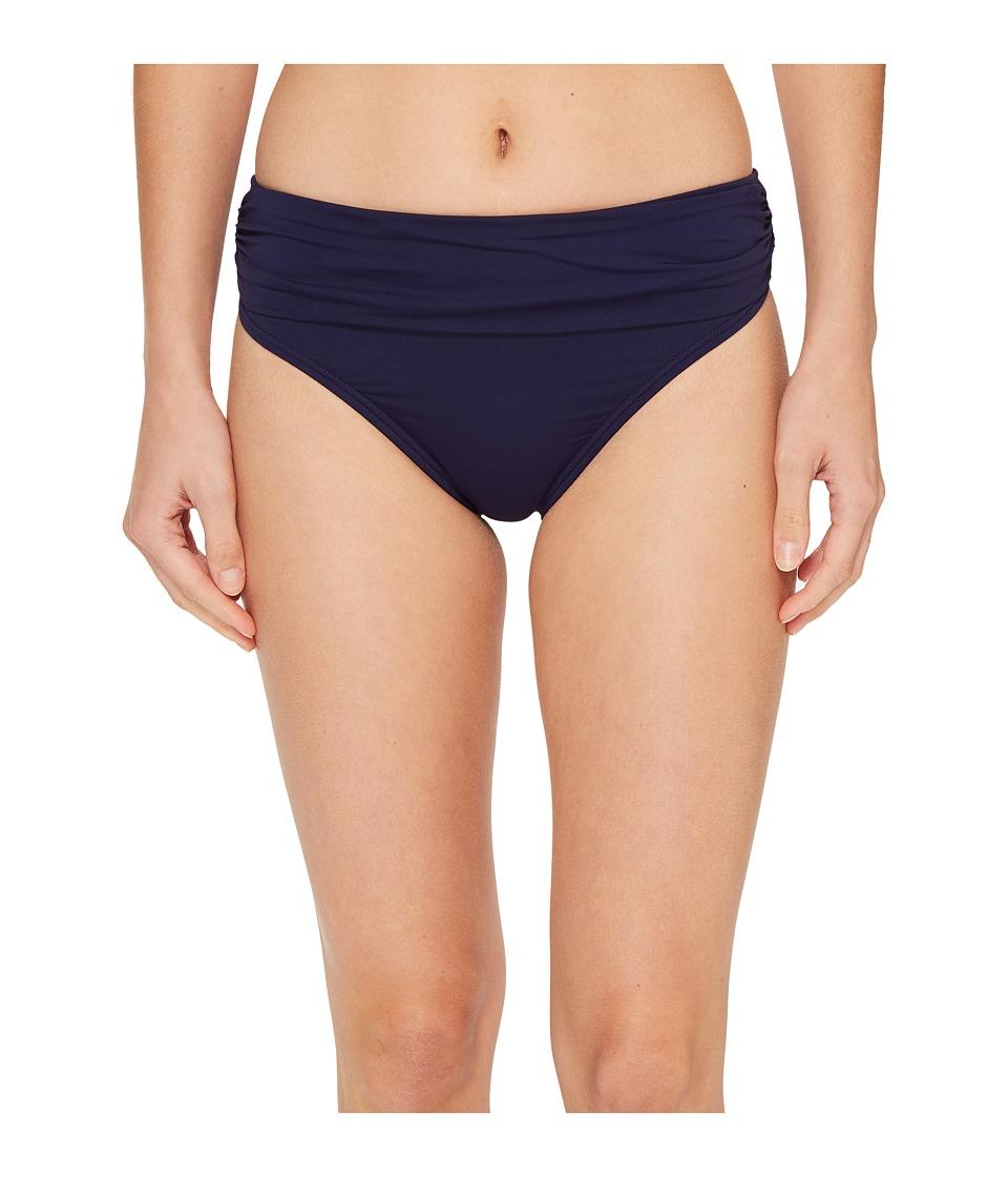 Tommy Bahama - Pearl High-Waist Hipster Bikini Bottom (Mare Navy) Women's Swimwear