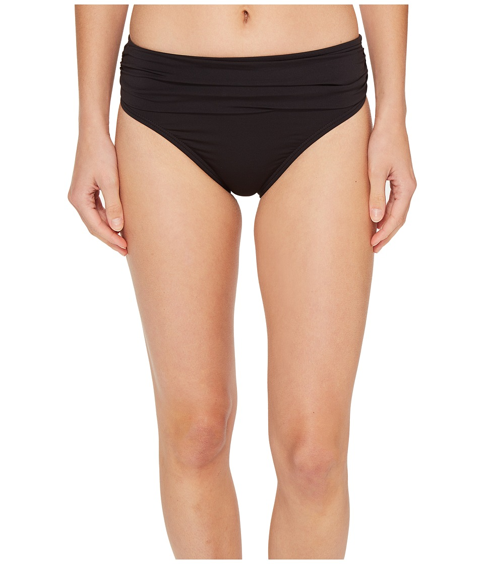 Tommy Bahama - Pearl High-Waist Hipster Bikini Bottom (Black) Women's Swimwear