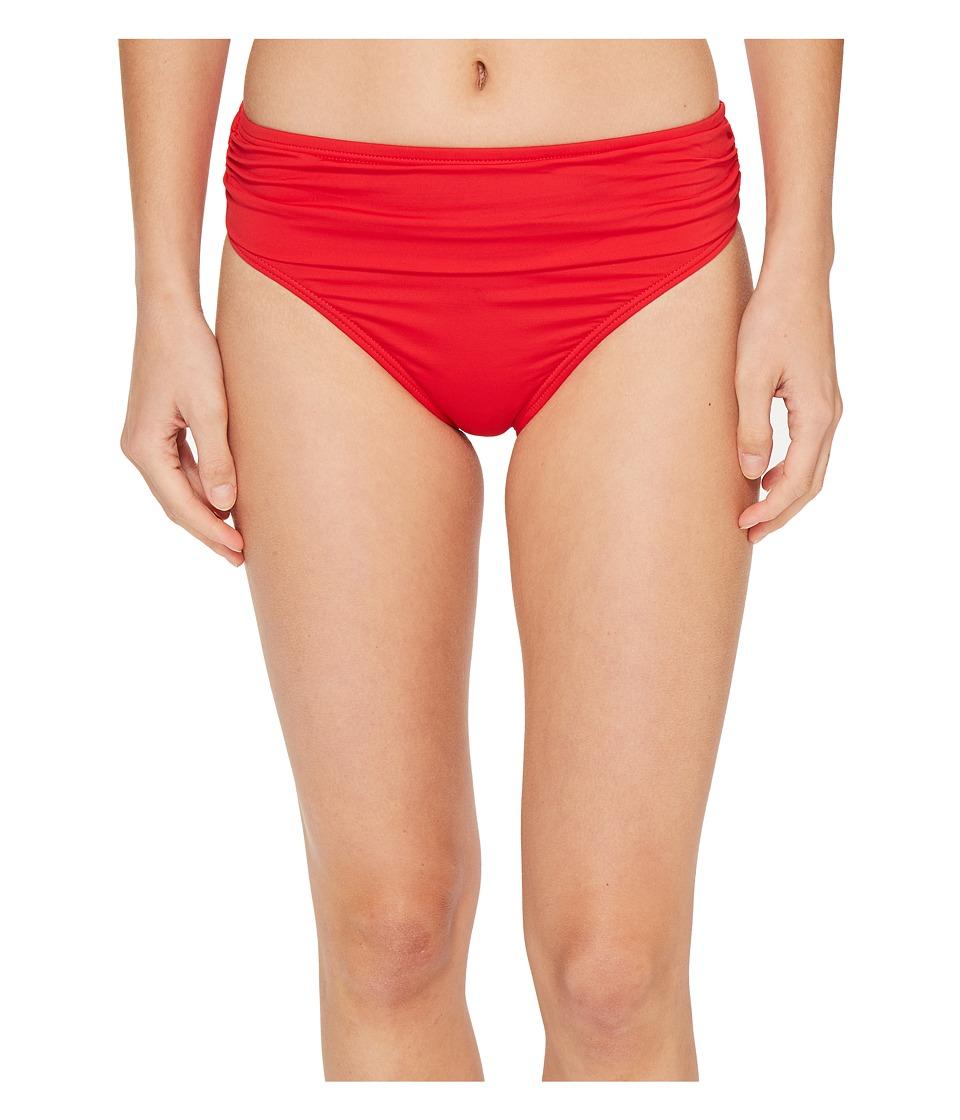 Tommy Bahama - Pearl High-Waist Hipster Bikini Bottom (Poppy Red) Women's Swimwear