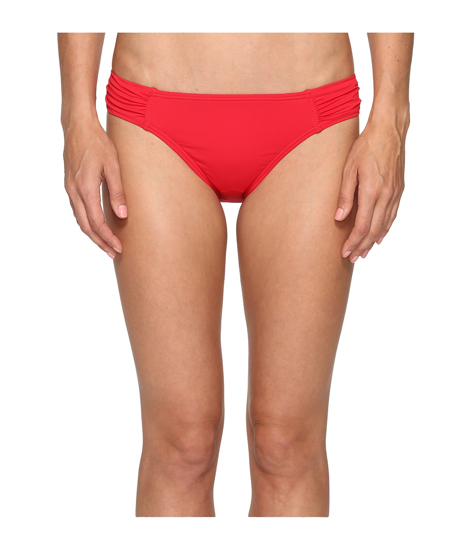 Tommy Bahama Pearl Side-Shirred Hipster Bikini Bottom (Poppy Red) Women