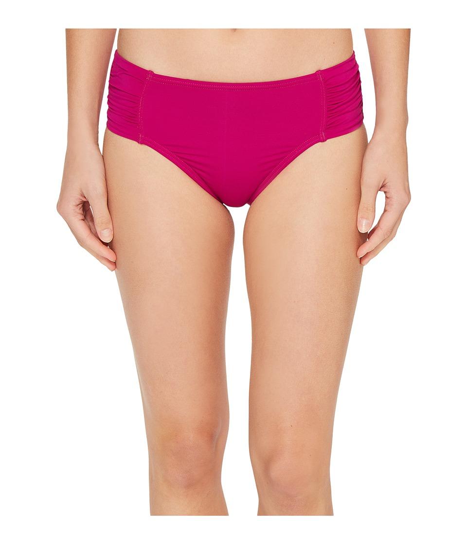 Tommy Bahama - Pearl High-Waist Side-Shirred Bikini Bottom (Wild Orchid Pink) Women's Swimwear