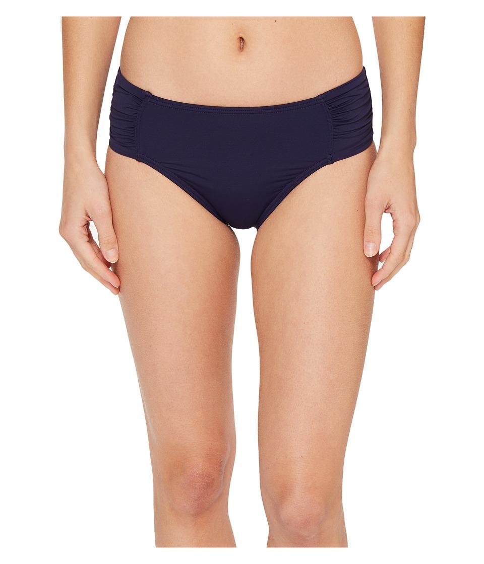 Tommy Bahama - Pearl High-Waist Side-Shirred Bikini Bottom (Mare Navy) Women's Swimwear
