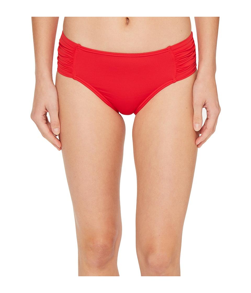Tommy Bahama Pearl High-Waist Side-Shirred Bikini Bottom (Poppy Red) Women