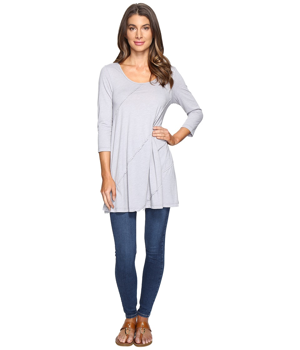 Mod-o-doc - Heather Jersey 3/4 Sleeve Swing Tunic (Silver) Women's Clothing