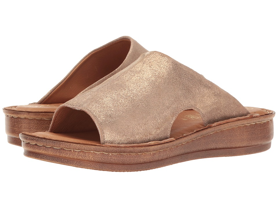 Seychelles - Ultimately (Champagne Metallic Suede) Women's Slide Shoes