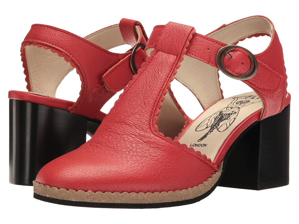 FLY LONDON - Cade04Fly (Scarlet Mousse) Women's Shoes