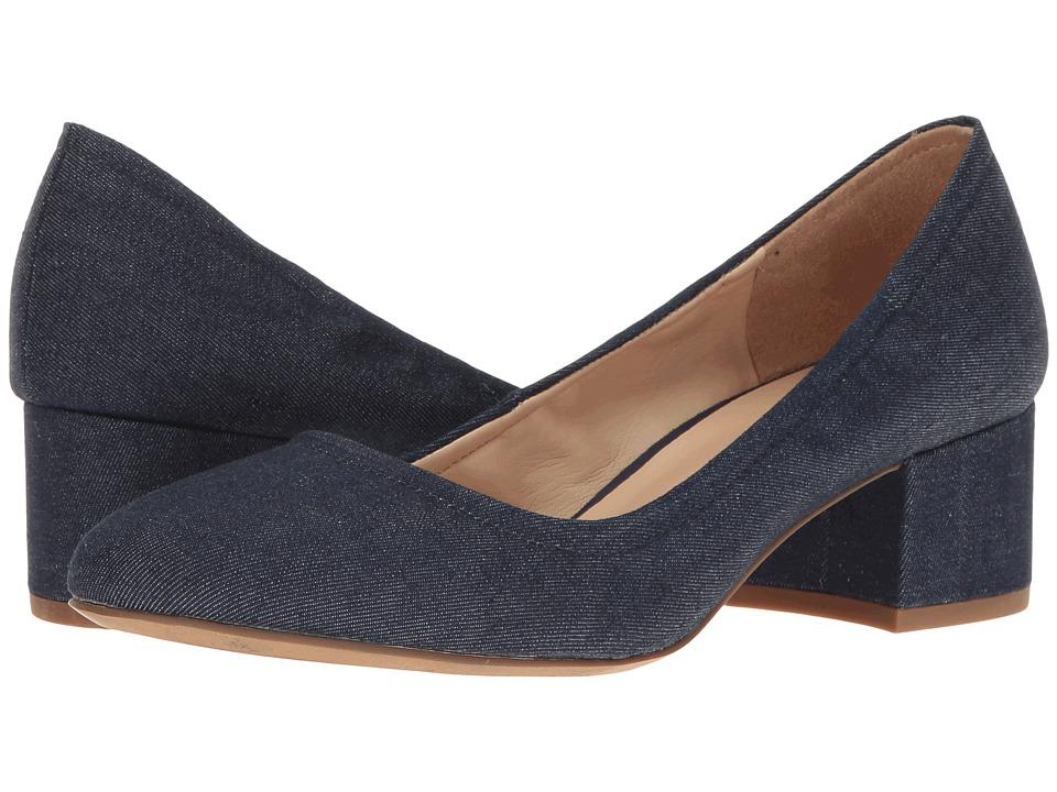 Franco Sarto - Fausta (Dark Indigo Denim Fabric) Women's Shoes