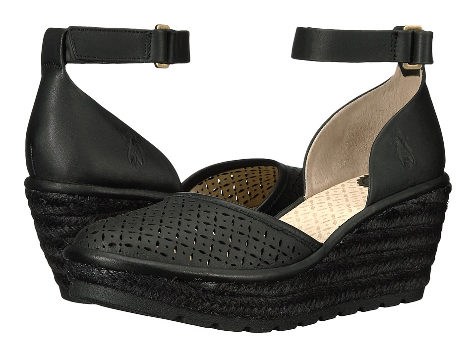 FLY LONDON - Etic970Fly (Black Leather) Women's Shoes