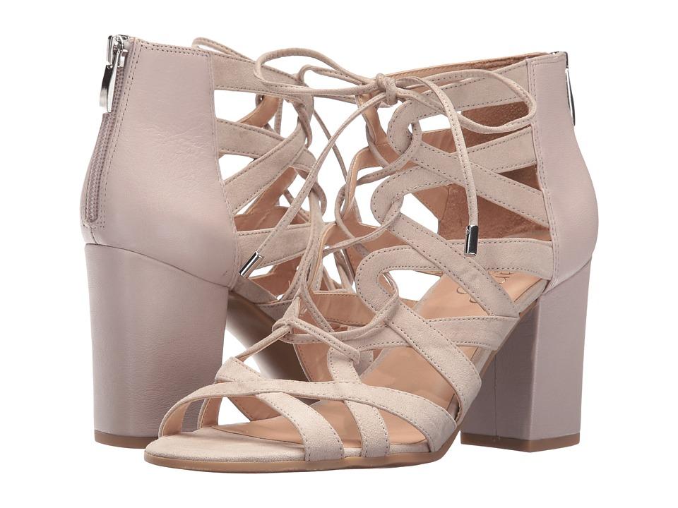 Franco Sarto - Meena (Satin Taupe Leather/Microfiber) Women's Shoes