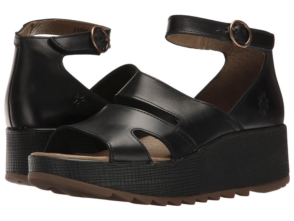 FLY LONDON - Keva976Fly (Black Bridle) Women's Shoes
