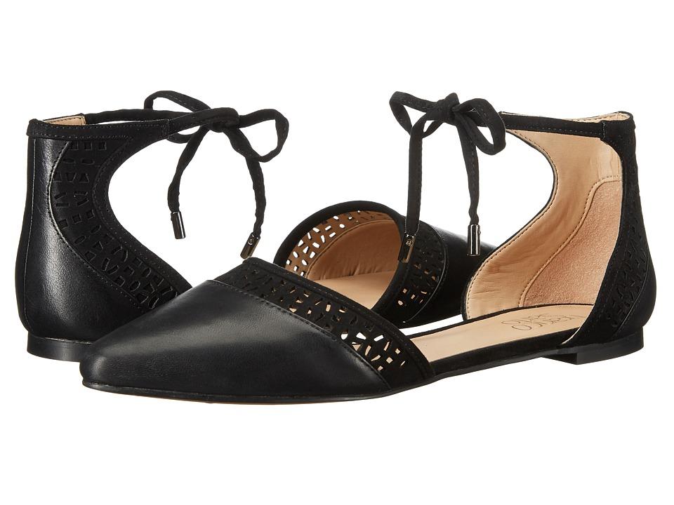 Franco Sarto - Shirley (Black Leather) Women's Dress Flat Shoes