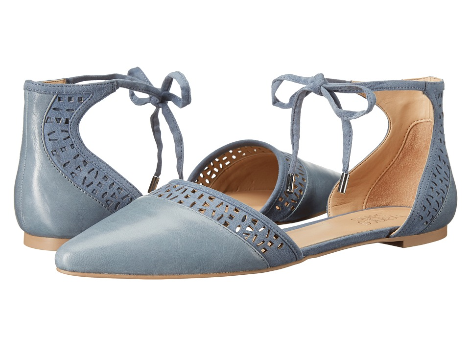 Franco Sarto - Shirley (Country Blue Leather) Women's Dress Flat Shoes