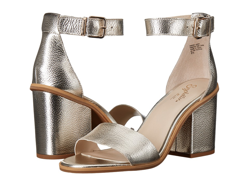 Seychelles - Movement (Platinum Pebbled Leather) Women's 1-2 inch heel Shoes