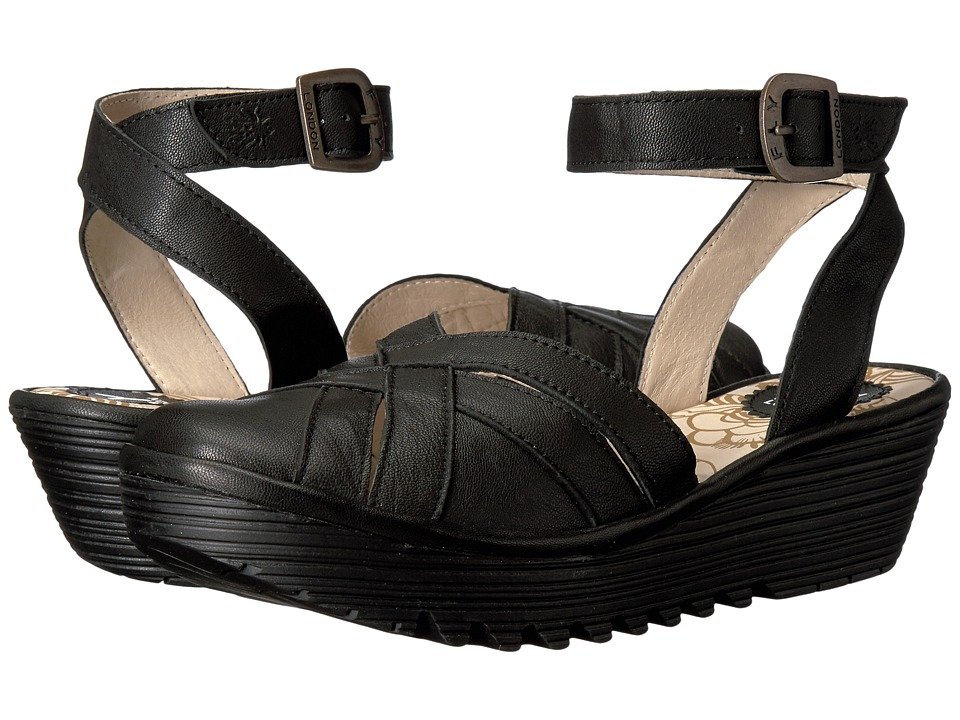 FLY LONDON - Read731Fly (Black Mousse) Women's Shoes