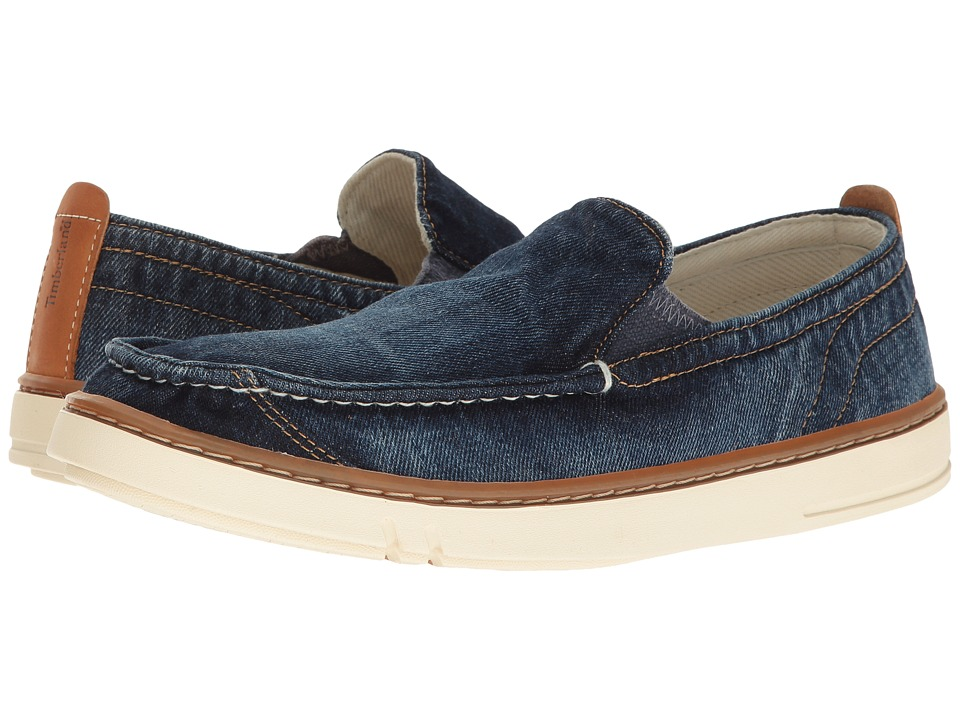 Timberland Hookset Handcrafted Fabric Slip-On (Navy Denim) Men