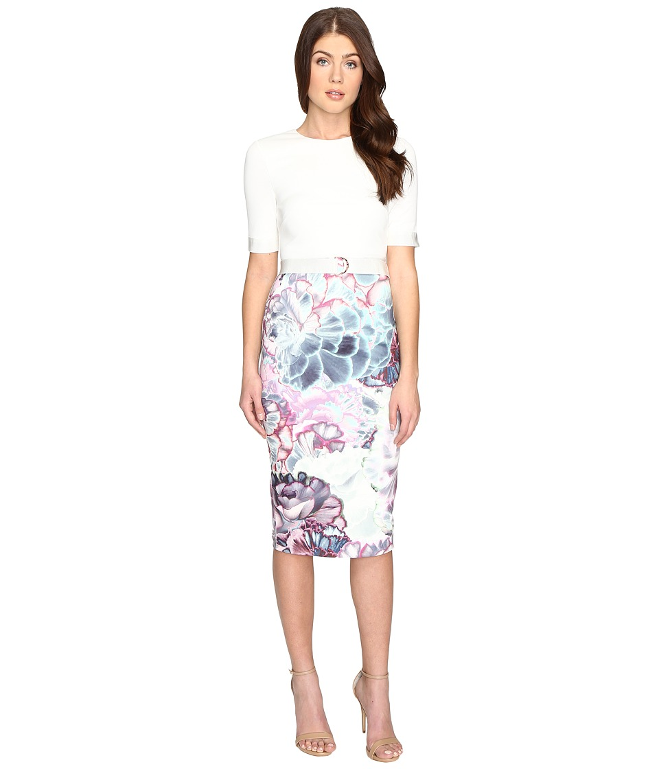 Ted Baker - Stephie Illuminated Bloom Contrast Dress (Mid Purple) Women's Dress