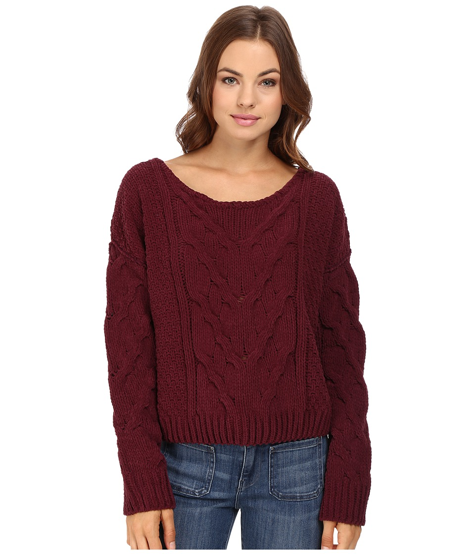 Free People - Sticks and Stones Pullover (Wine) Women's Sweatshirt