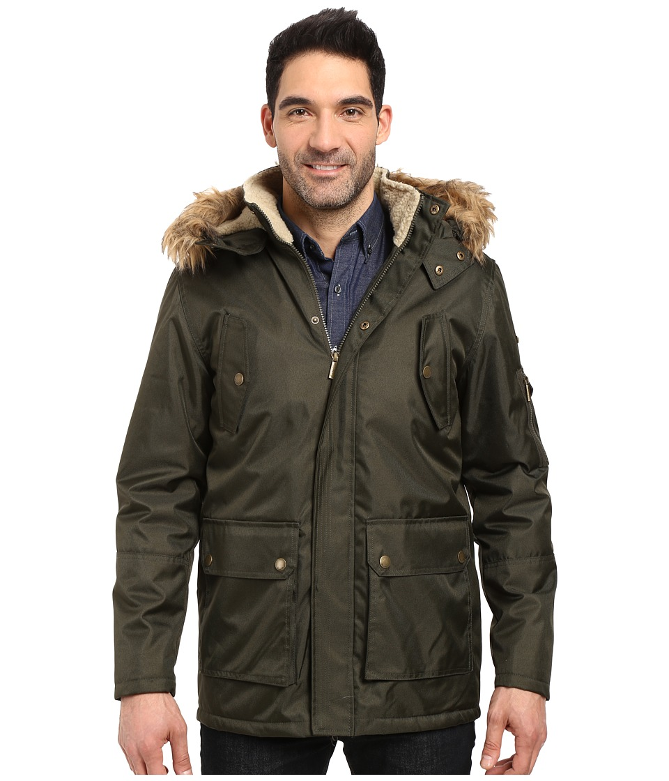 English Laundry - Textured Field Jacket (Olive) Men's Coat
