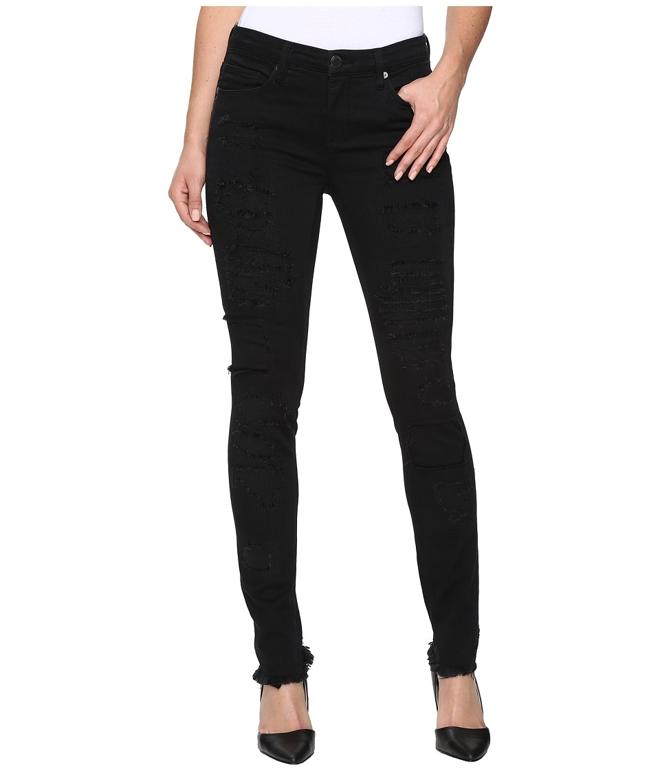 Blank NYC Distressed Black Skinny in Low Life (Low Life) Women