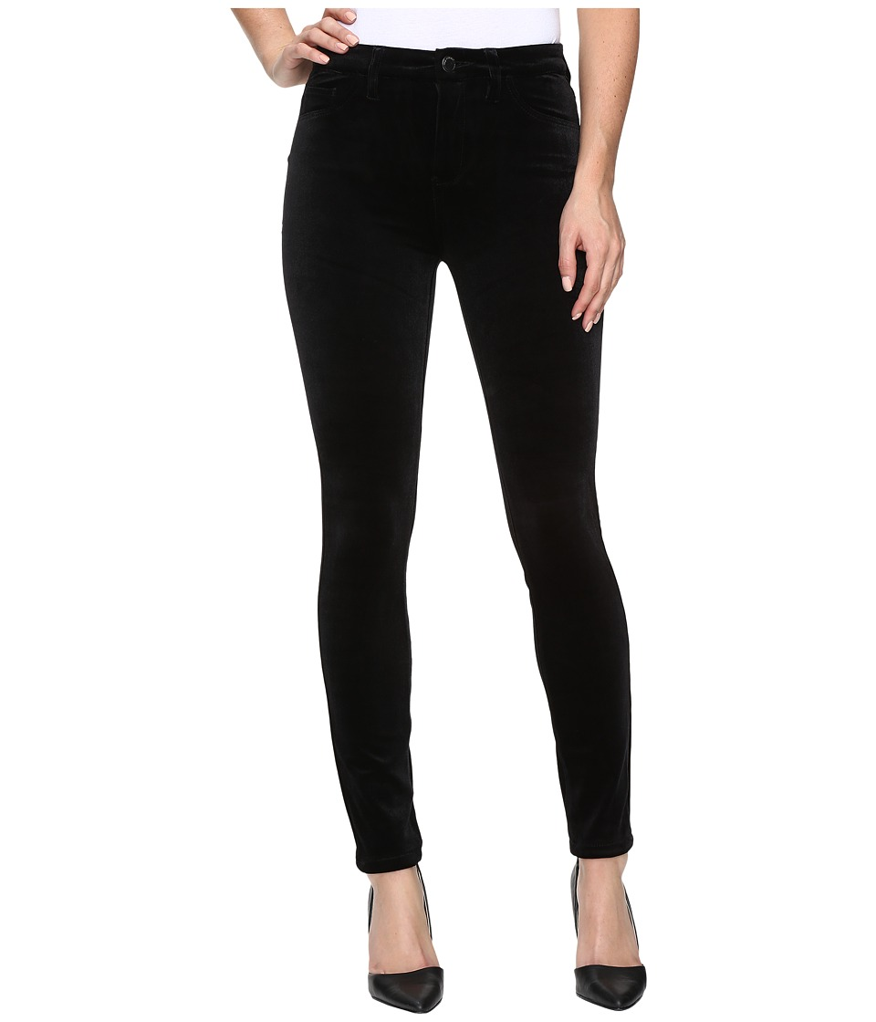Blank NYC Velvet Black High-Rise Skinny in The New Black (The New Black) Women