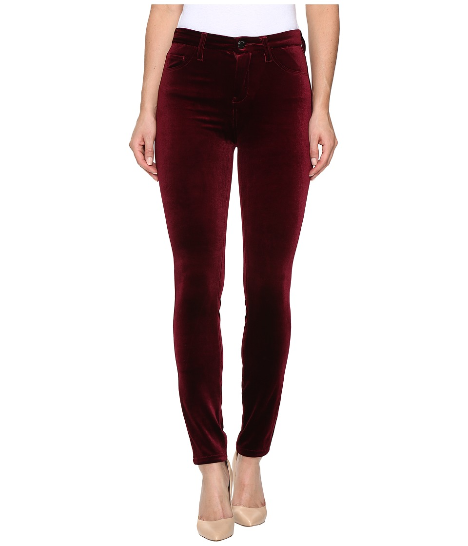 Blank NYC Velvet Burgundy High-Rise Skinny in Burgundy Lush (Burgundy Lush) Women