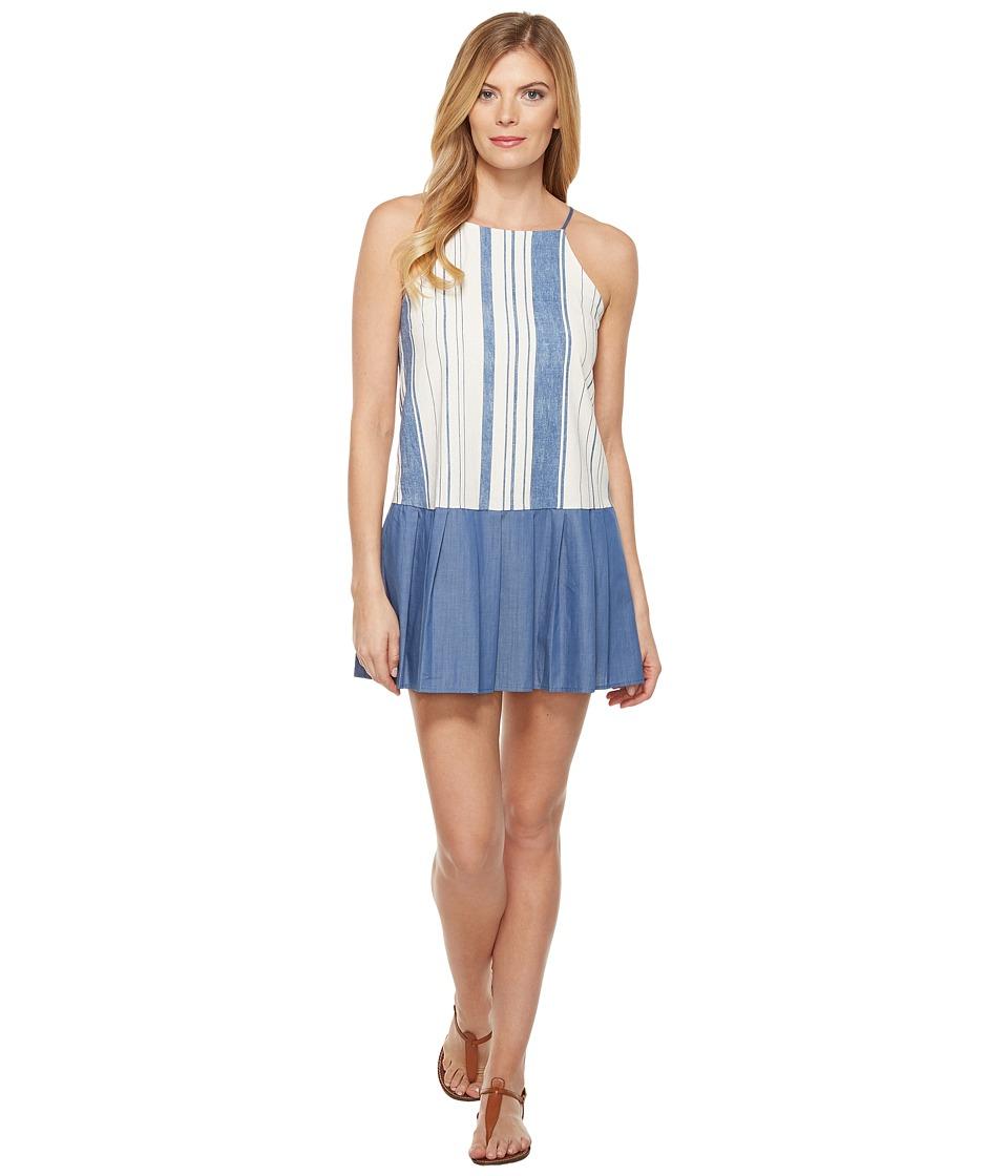 Brigitte Bailey - Meja Spaghetti Strap Dress (Ivory/Denim) Women's Dress