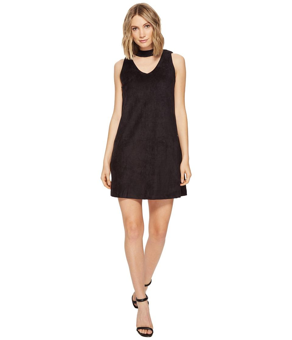 Brigitte Bailey - Joline Sleeveless Micro Suede Dress (Black) Women's Dress