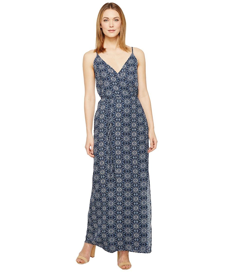 Brigitte Bailey - Minna Spaghetti Strap Printed Maxi Dress (Navy) Women's Dress