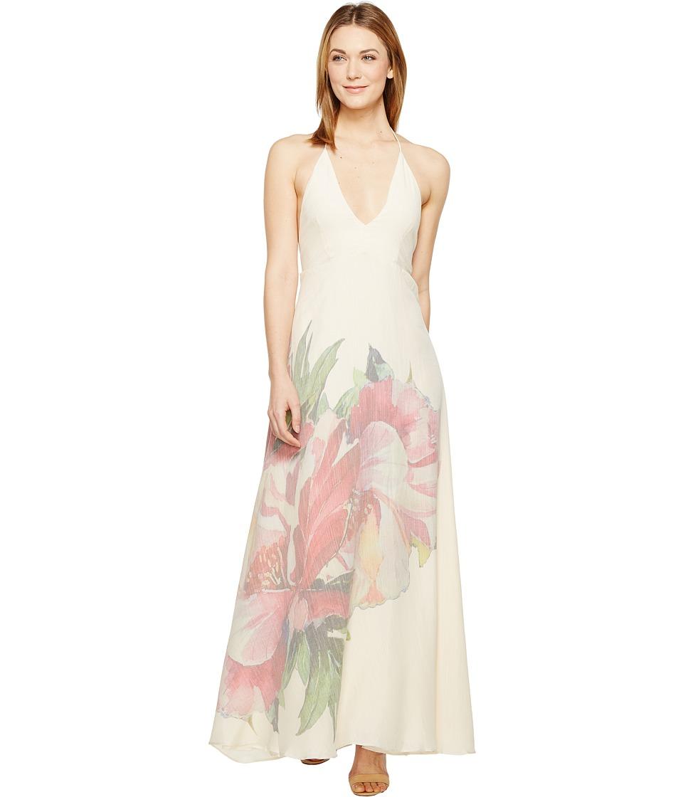 Brigitte Bailey - Selma Backless Long Dress (Cream/Pink) Women's Dress