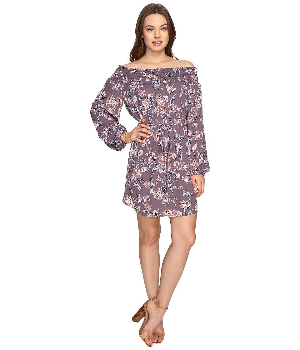 Brigitte Bailey - Lana Off the Shoulder Floral Dress (Purple) Women's Dress