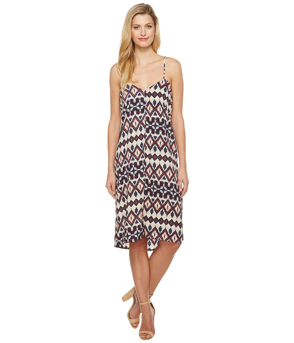 Brigitte Bailey - Lovis Spaghetti Strap Tribal Print Maxi Dress (Cream) Women's Dress