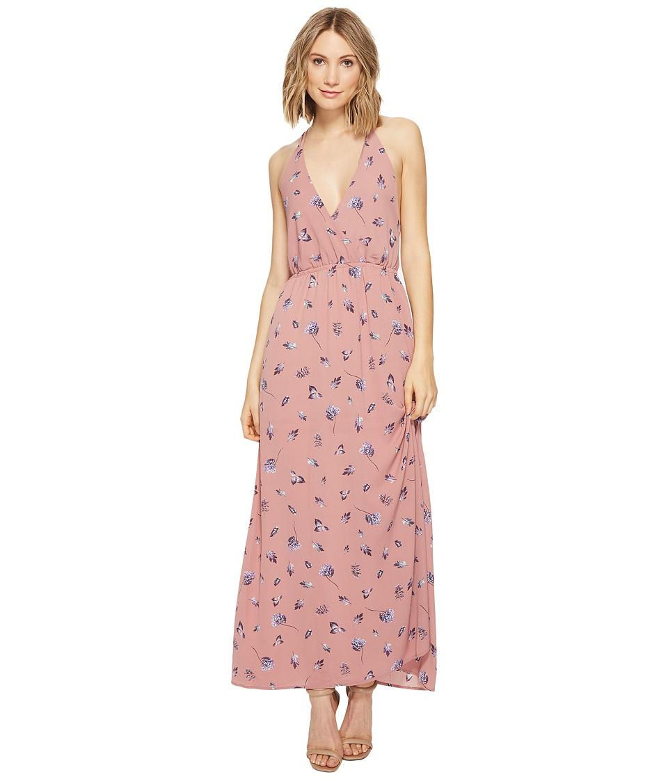 Brigitte Bailey - Lejla Spaghetti Strap Floral Maxi Dress (Blush) Women's Dress