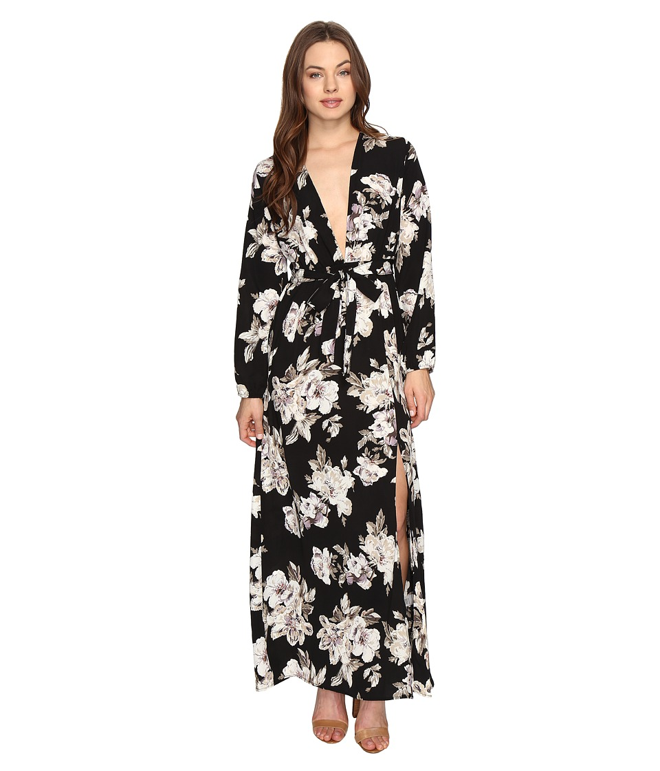 Brigitte Bailey - Novalie Long Sleeve Wrap Dress (Black) Women's Dress
