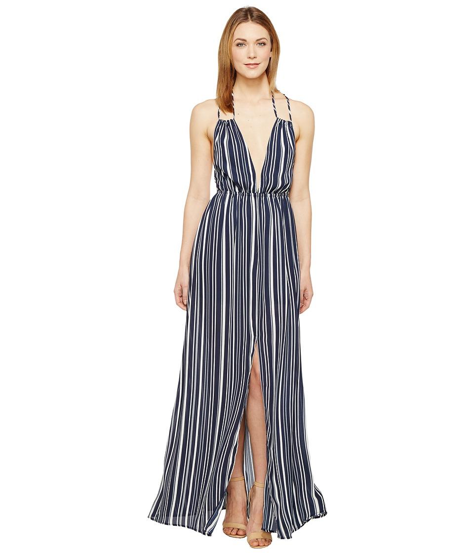Brigitte Bailey - Esma Striped Maxi Dress (Navy/Ivory) Women's Dress