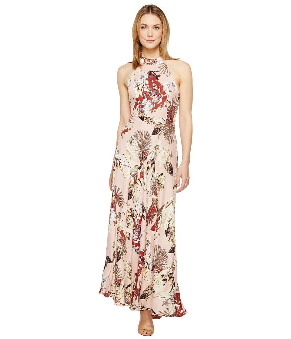 Brigitte Bailey - Nova High Neck Maxi Dress with Back Bowtie (Blush) Women's Dress