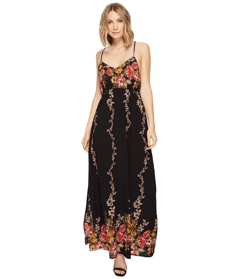 Brigitte Bailey - Ronja Spaghetti Strap Floral Maxi Dress (Black) Women's Dress