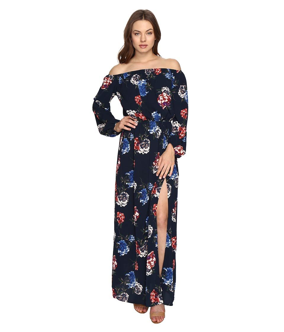 Brigitte Bailey - Iva Off the Shoulder Maxi Dress (Navy) Women's Dress