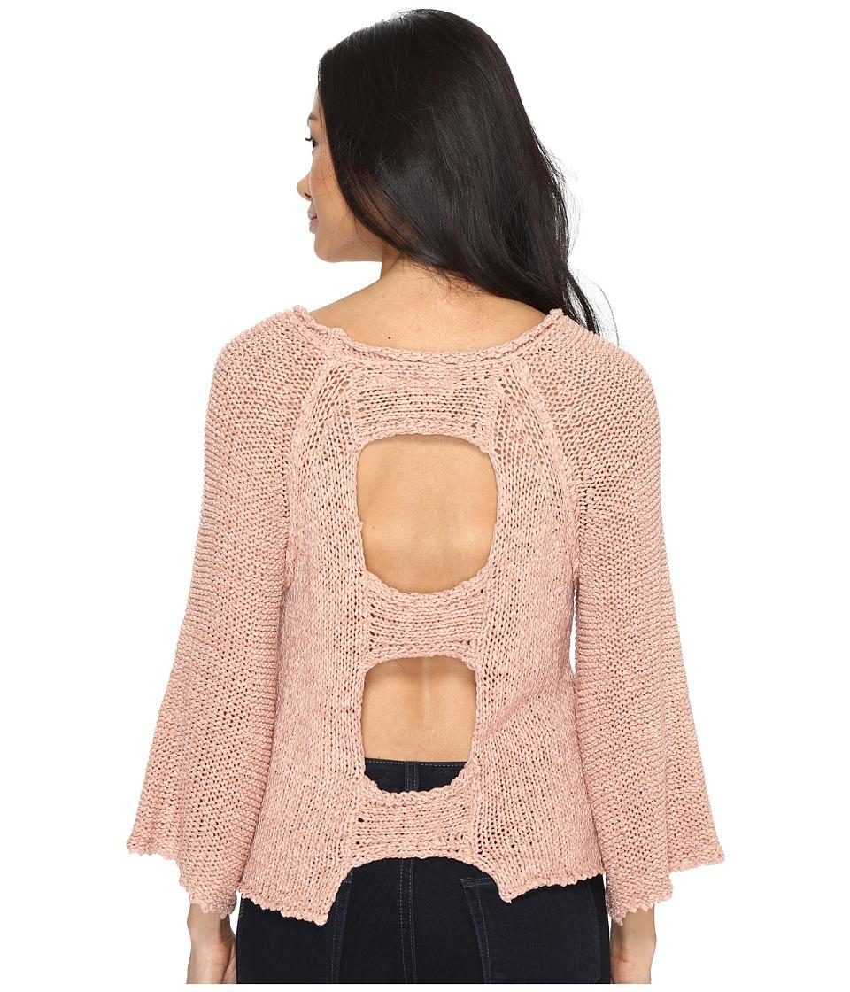 Brigitte Bailey - Leah Open Back Sweater (Blush) Women's Sweater