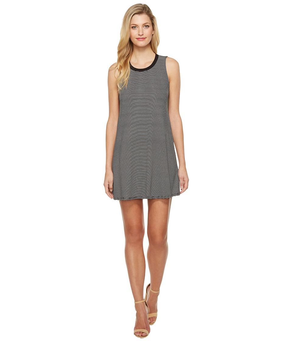 Brigitte Bailey - Elin Sleeveless Striped Dress (Black/Ivory) Women's Dress