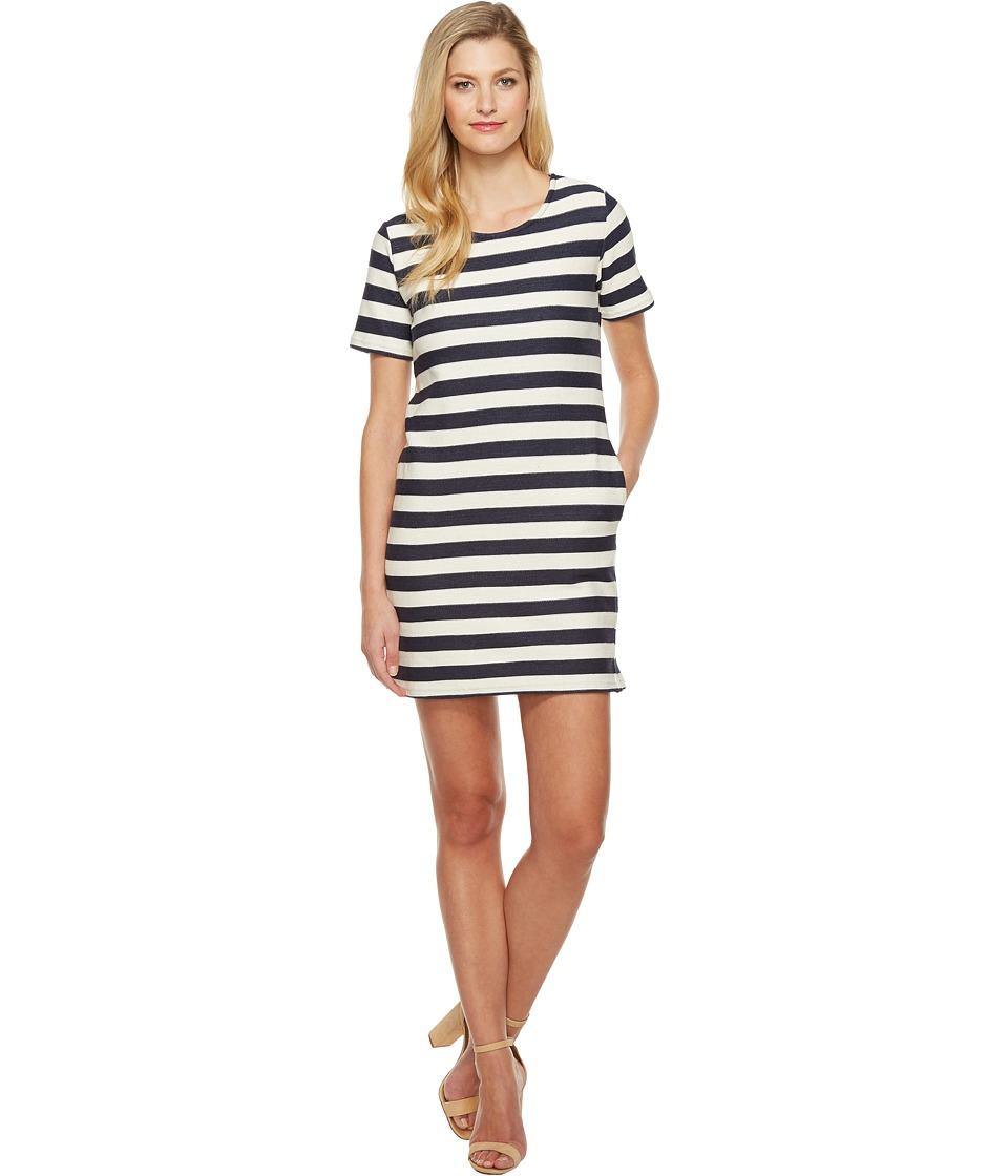 Culture Phit Naja Short Sleeve Striped Dress (Navy/Ivory) Women