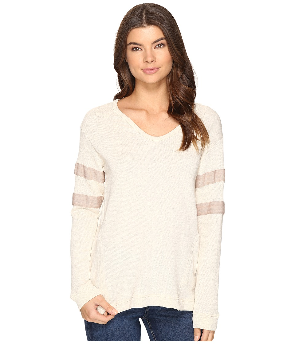 Culture Phit - Liva Long Sleeve Top with Stripes (Cream) Women's Clothing
