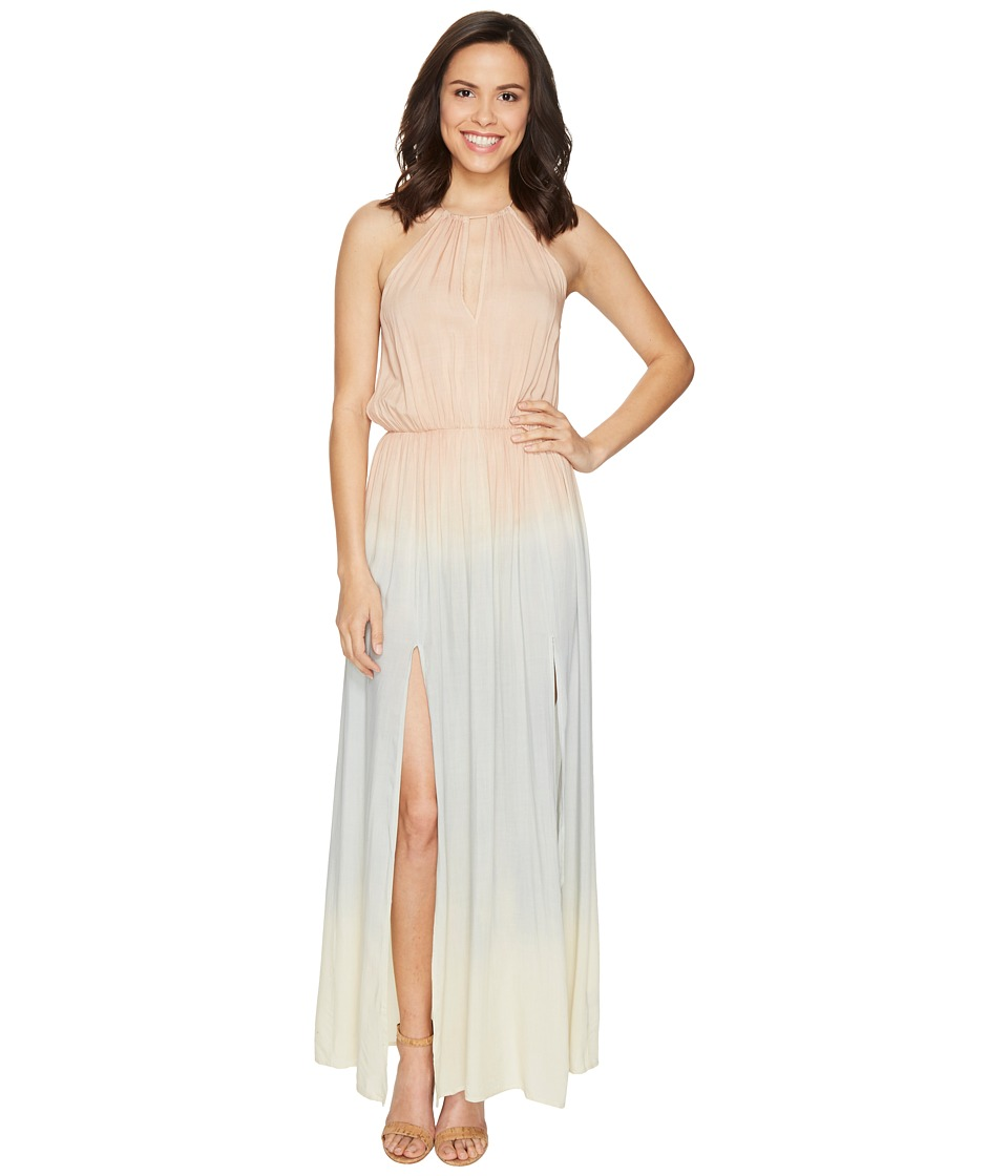Culture Phit Amabell Tie-Dye Maxi Dress (Blush/Light Blue) Women