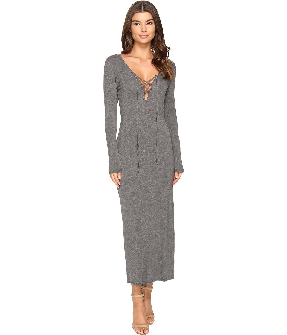 Culture Phit - Annouk Tie-Front Long Sleeve Dress (Heather Grey) Women's Dress